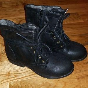 NEW Black combat boots
